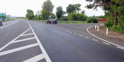В Орловском районе завершен капитальный ремонт участка дороги Орел – Тамбов